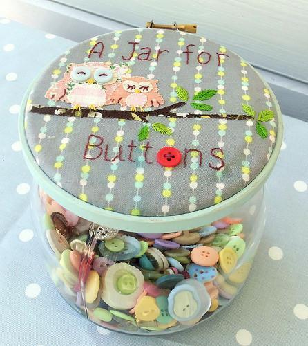 Owl Button Jar