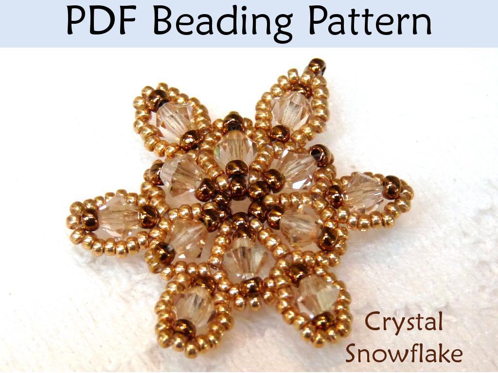 Beading Pattern Crystal Snowflake