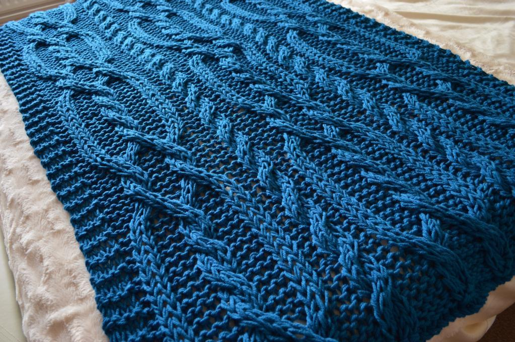 Snuggly Chunky Cable Blanket knitting pattern
