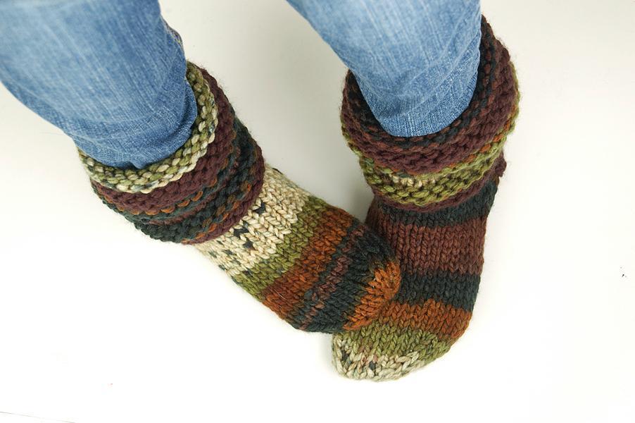 Cozy Feet Slipper Socks knitting pattern
