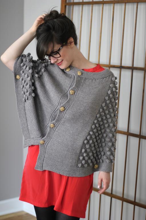 El Matador poncho knitting pattern