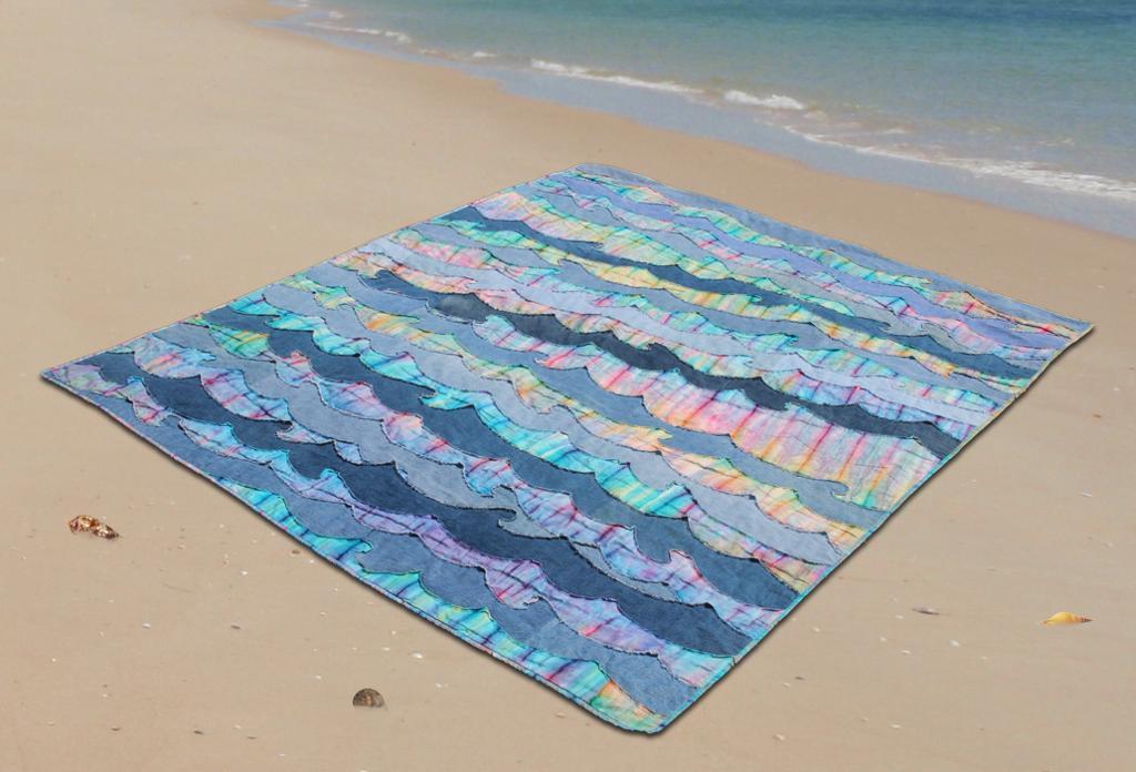 Denim Waves Quilt Pattern