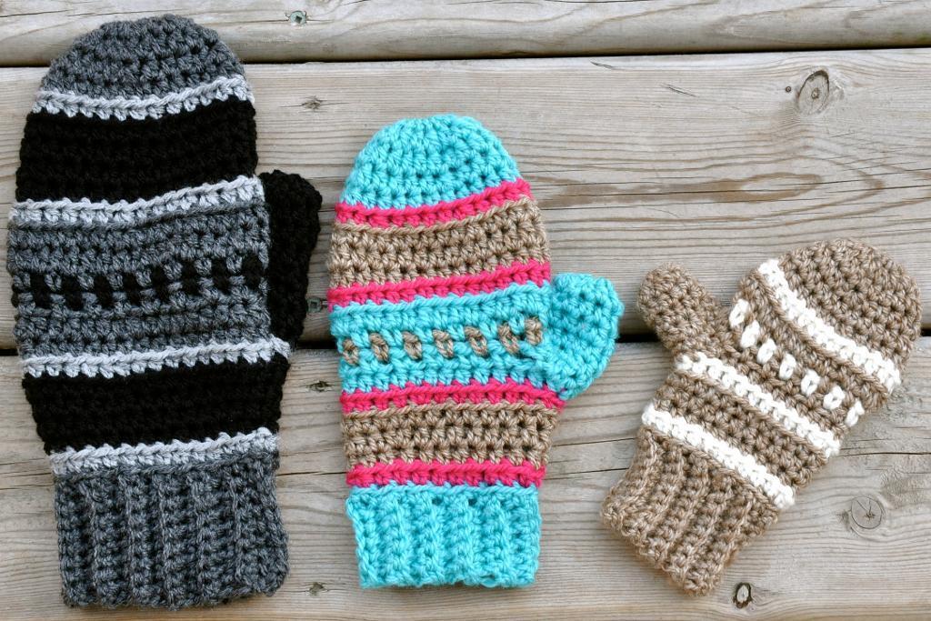 Dylan Mittens crochet pattern