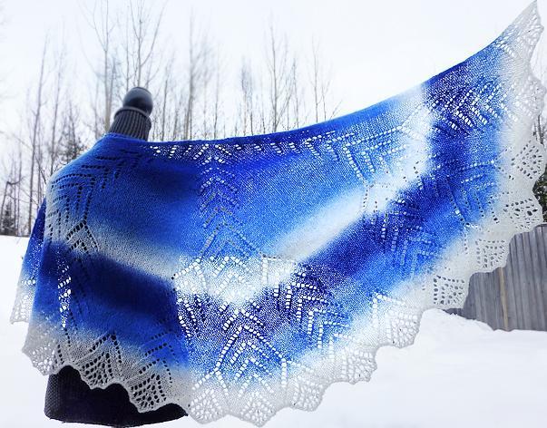 Snow Crystal Shawl knitting pattern