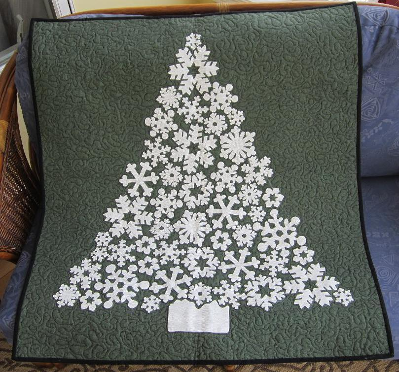 White Christmas wall hanging