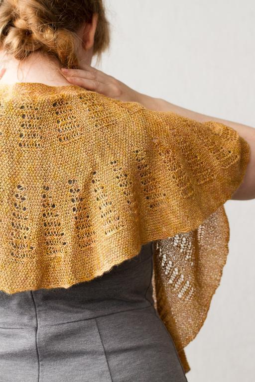 Egyptian Gold Shawl knitting pattern
