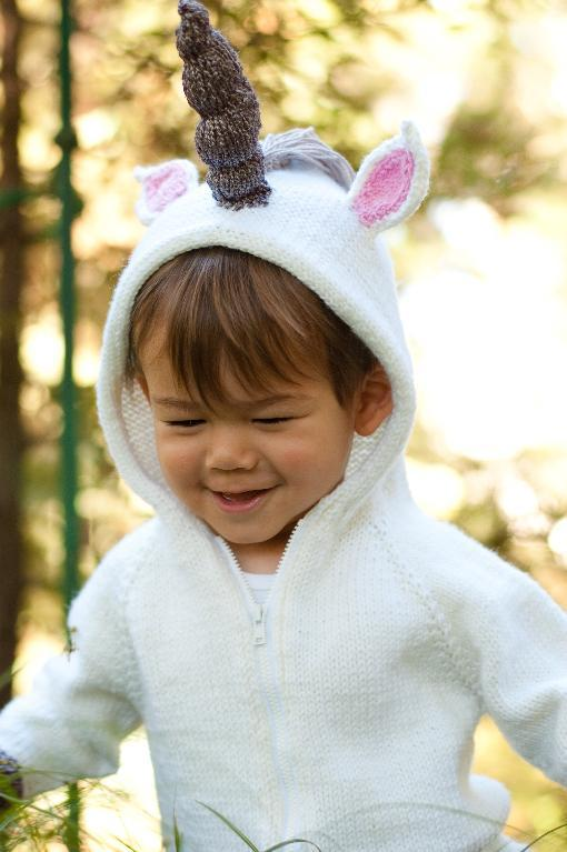 Children's Fairy Tale Unicorn Hoodie knitting pattern