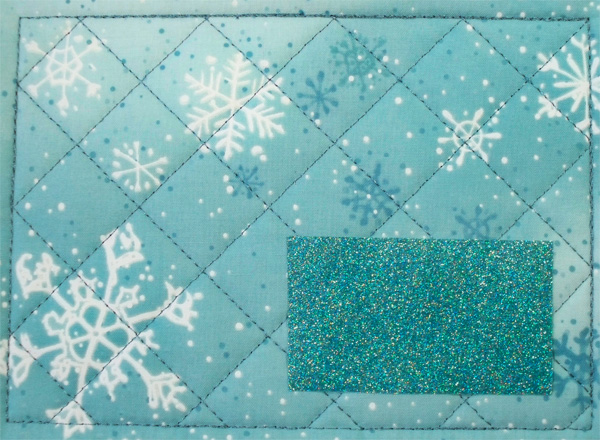Glitter flex vinyl applique snowman mug rug.