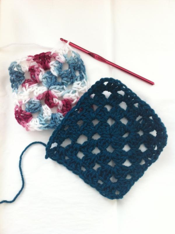 how to crochet granny squares
