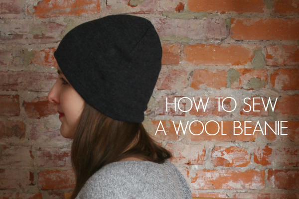 how to sew a wool beanie hat