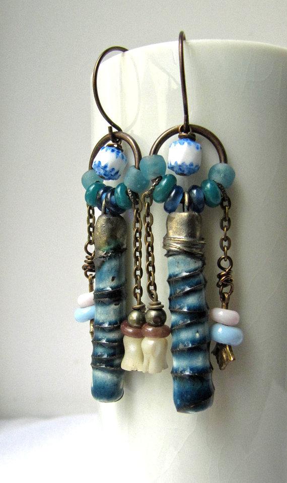 Handmade bead earrings from Something to do jewellery