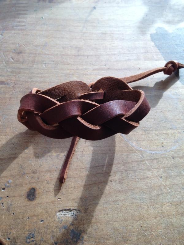braided bracelet tied