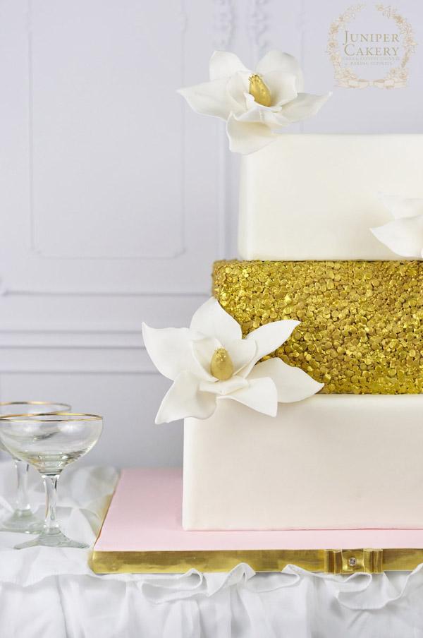Golden Magnolia Cake by Juniper Cakery