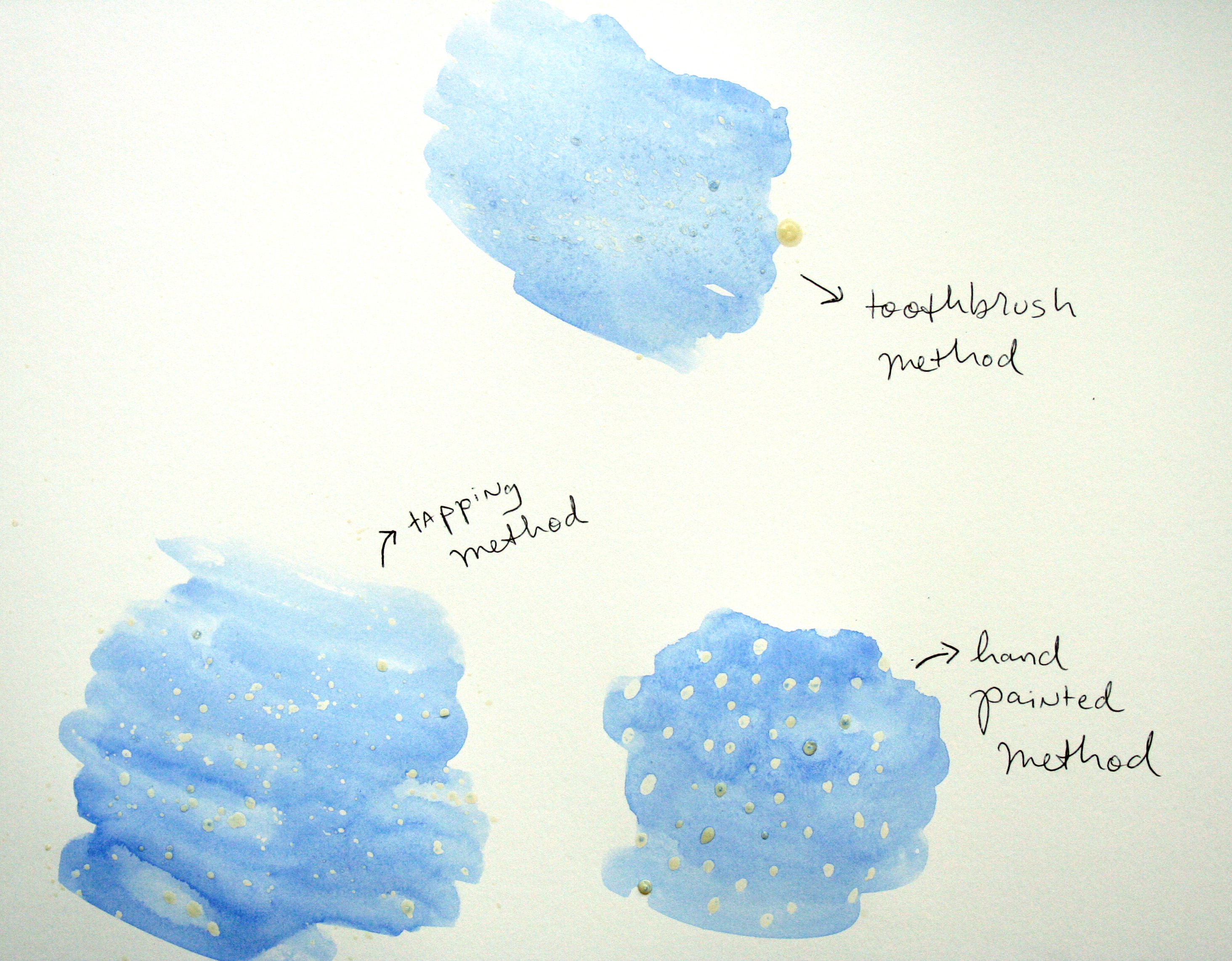 Masking fluid patterns