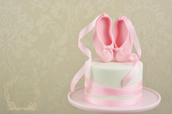 Pretty in pink ballet cake tutorial by Juniper Cakery