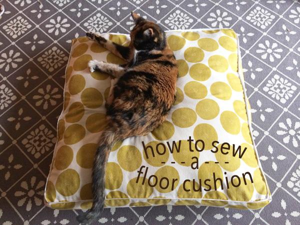 how to sew a floor cushion