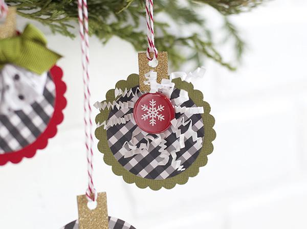 snowflake paper ornament