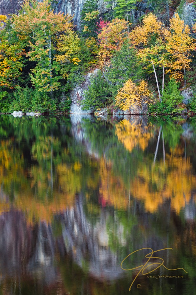 Stonehouse Pond, Fall Reflections