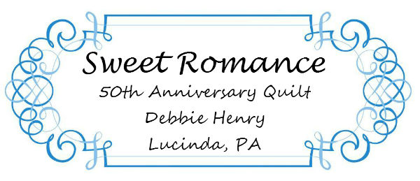 sweet romance quilt label