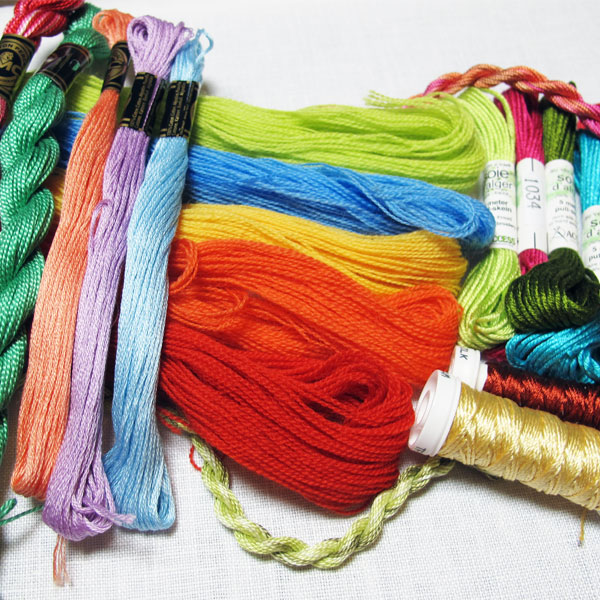 Different Embroidery Threads