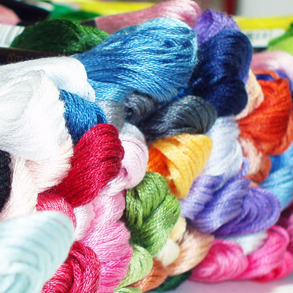 Stranded cotton embroidery floss