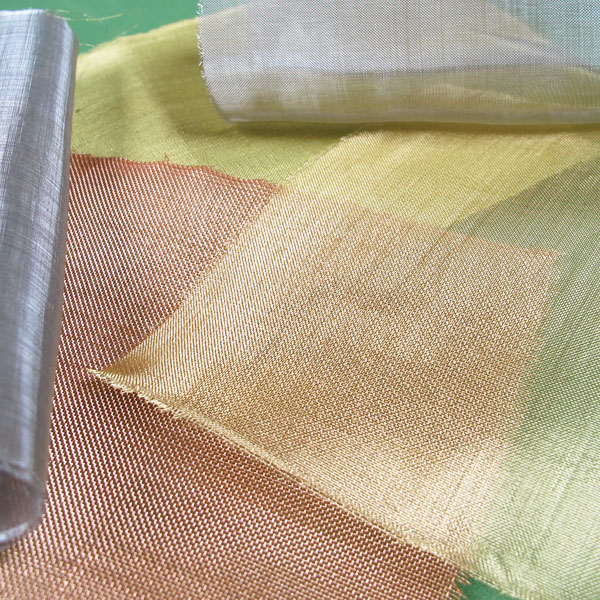 Metal fabrics used in embroidery and mixed media