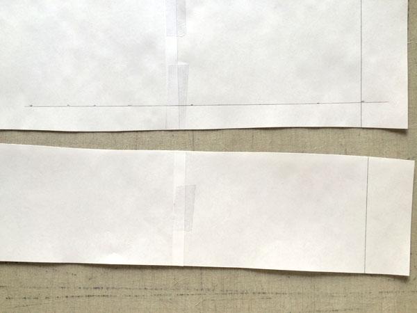 trim paper below line