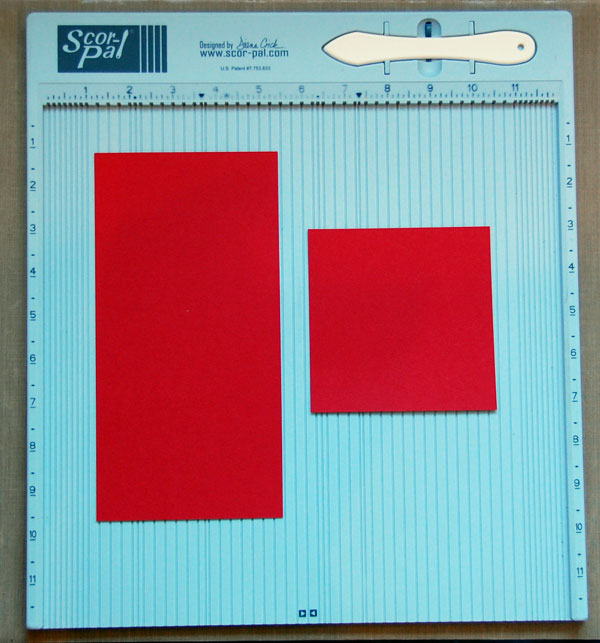 Card stock pieces cut to specified sizes