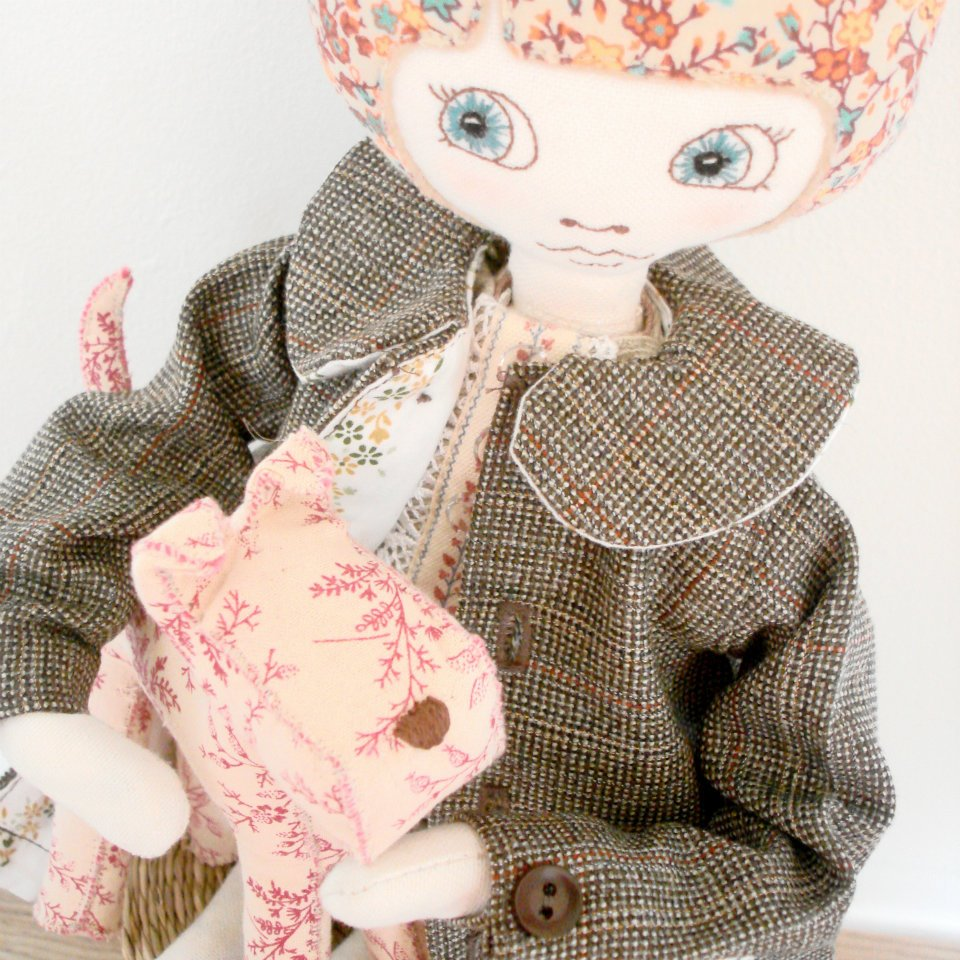 The marvellous Supercutetilly and her hand-stitched dolls