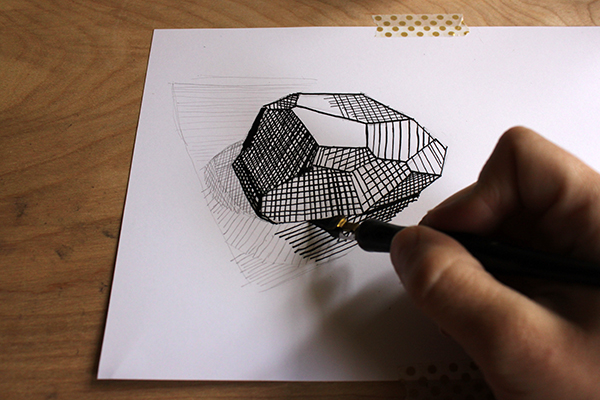 Cross hatching different directions
