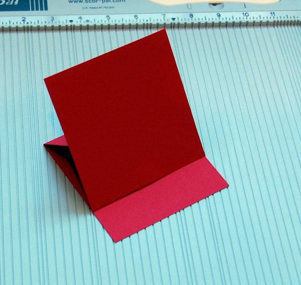Blank card open (as in display)