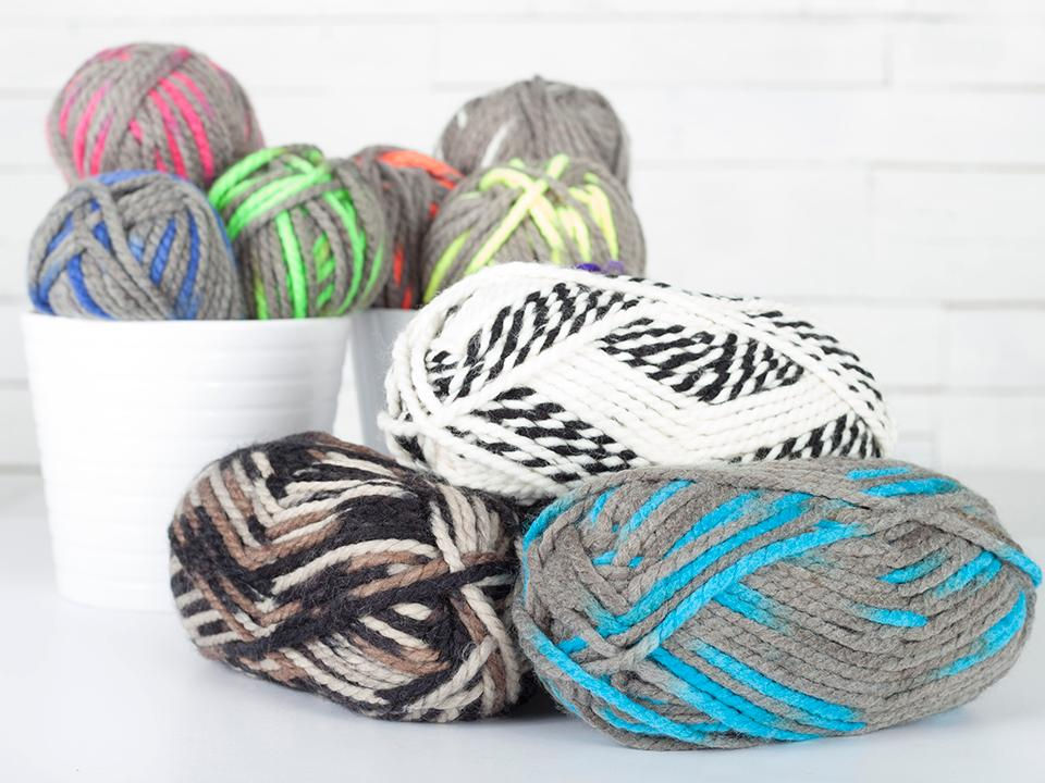 Lion Brand Wool-Ease Thick & Quick Neons Yarn