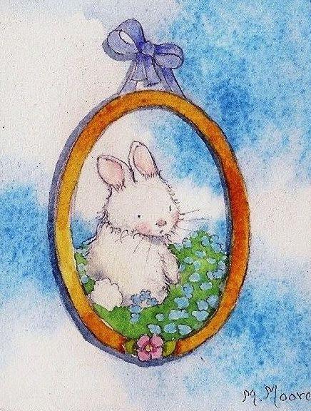 framed bunny in the sky
