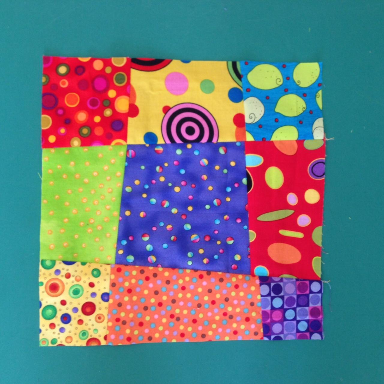 Crazy Nine Patch Baby Block