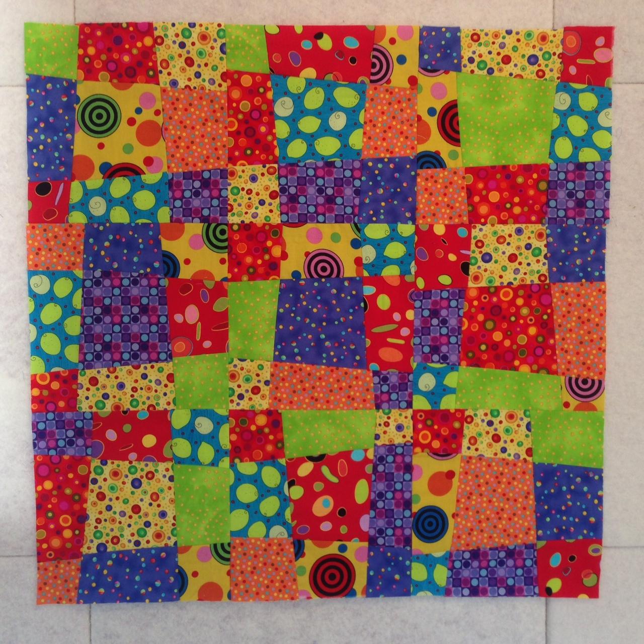Arranging the Crazy Nine Patch Blocks