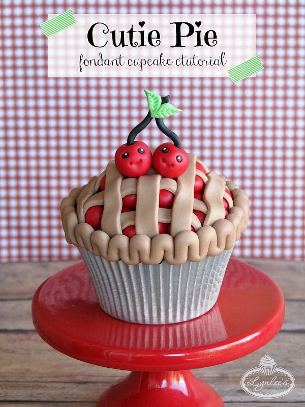 Cutie Pie Fondant Cupcake Tutorial