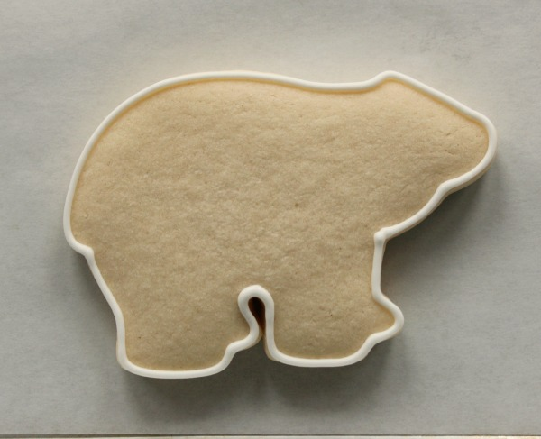 Decorated Polar Bear Cookie 1