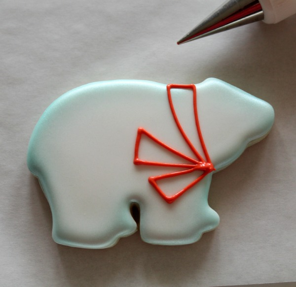 Decorated Polar Bear Cookie 4