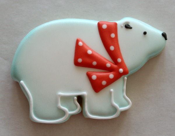 Decorated Polar Bear Cookie 7