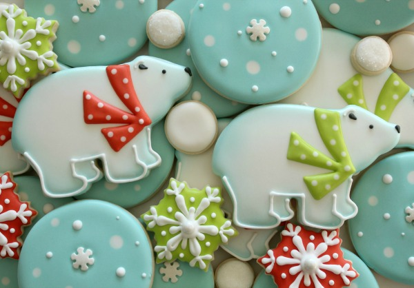 Decorated Polar Bear Cookies Sweetsugarbelle