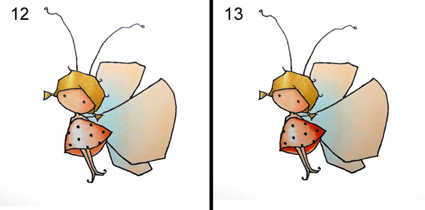 Steps 12-13 Coloring Dress - On Paper Blending