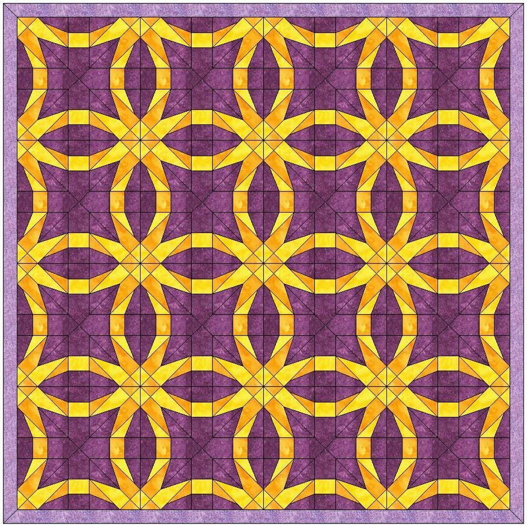 Foundation paper pieced wedding ring quilt pattern