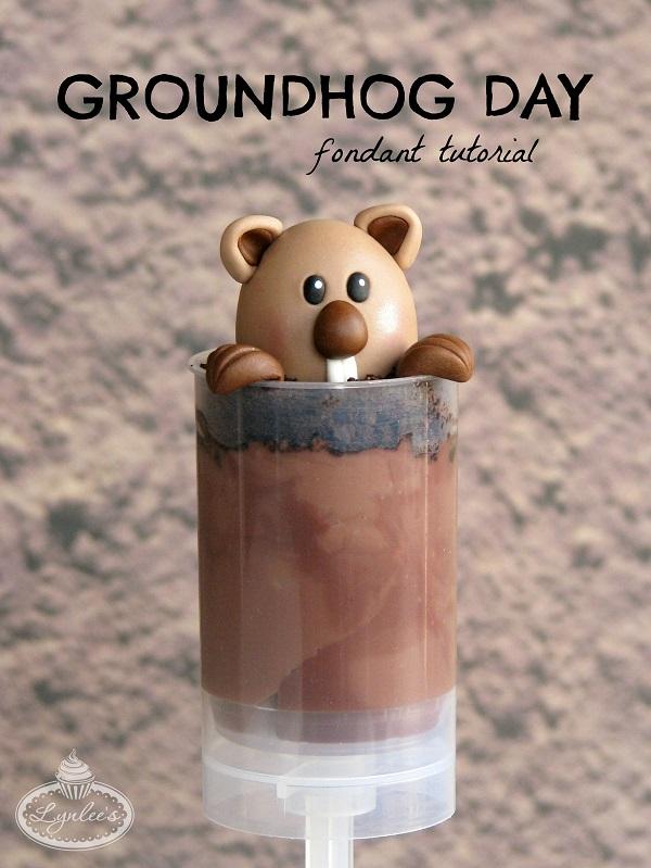 Groundhog Day fondant tutorial