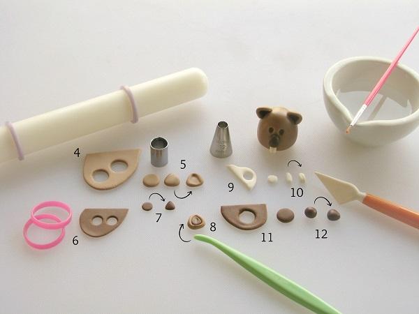 Groundhog fondant tutorial step 2