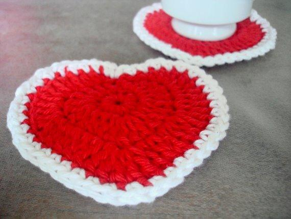 Heart-Shaped Coasters