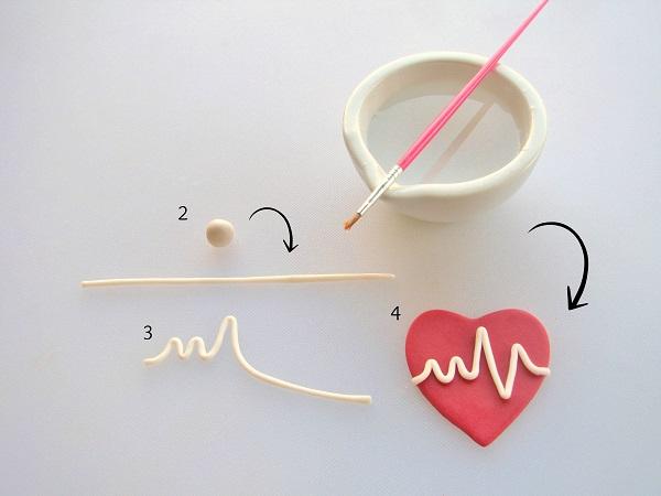 Heartbeat fondant tutorial step 2