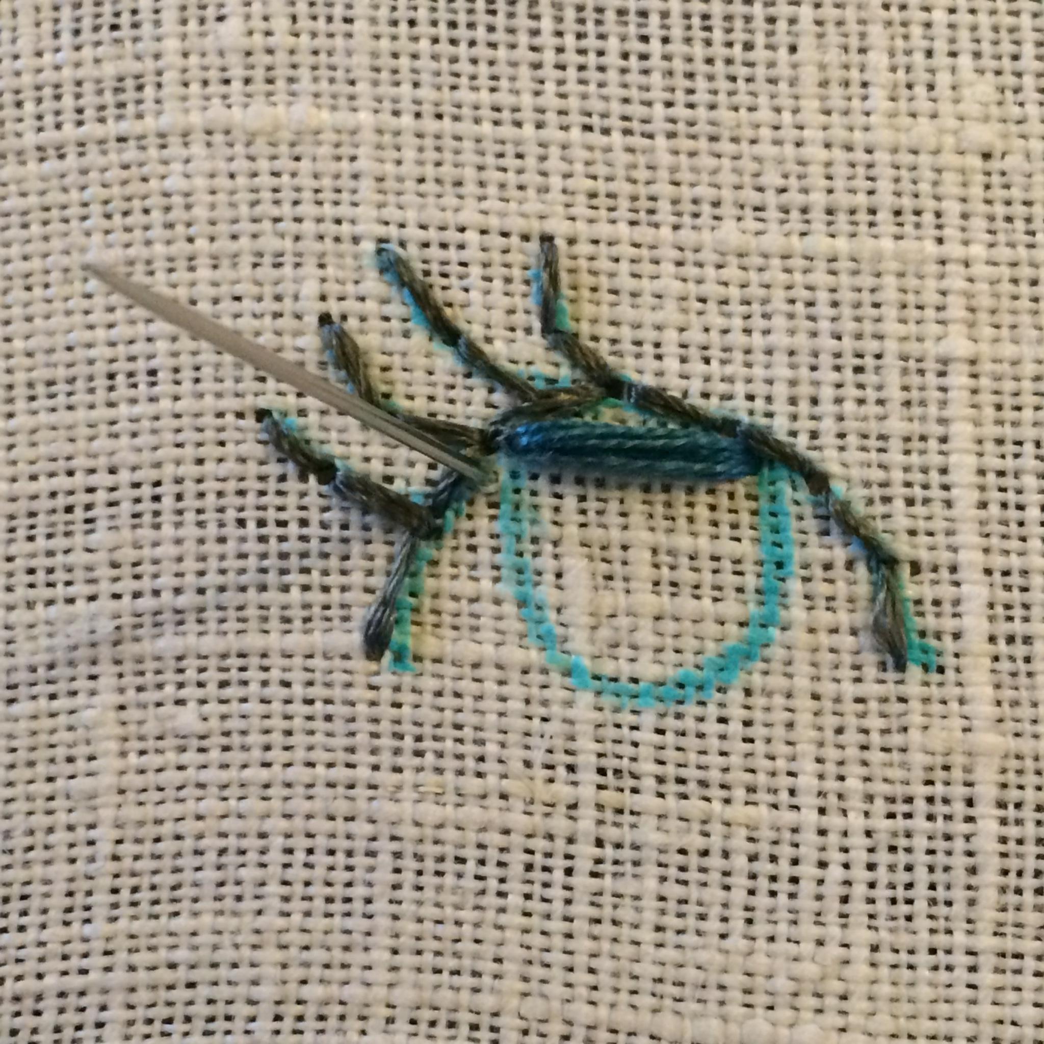 Satin fill stitch