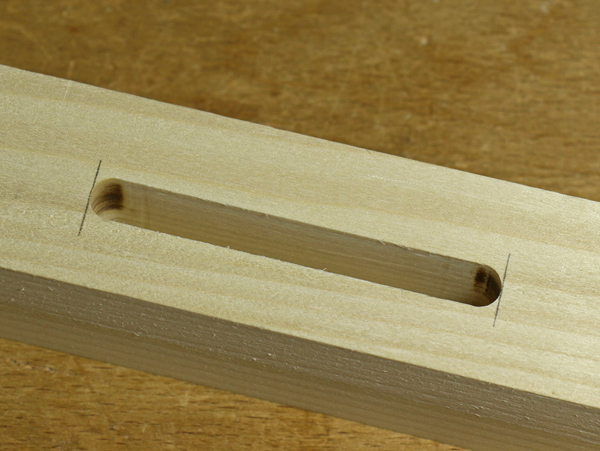 mortise made by router