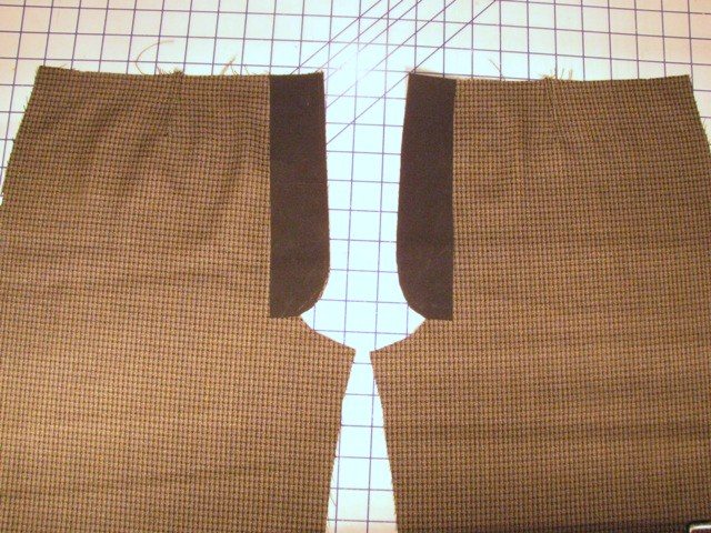 apply fusible interfacing to flaps