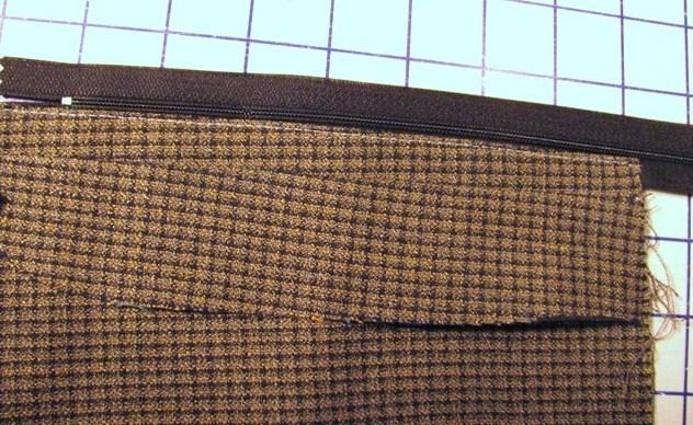 stitch along fold